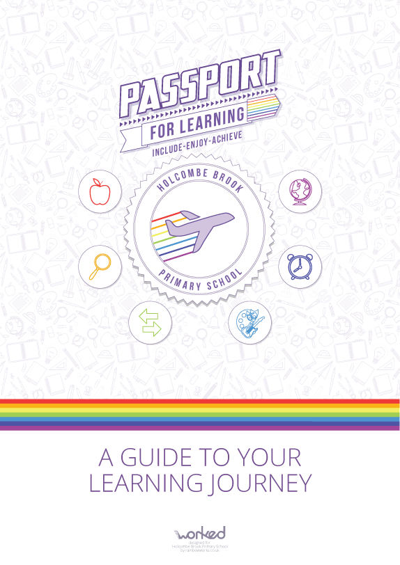 A Passport For Learning poster used around school to increase awareness and engagement in the concept